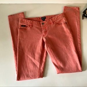 Vans Coral/Pink Skinny Jeans Size Juniors 1